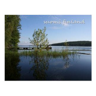 Orilla del lago en Suomi Finlandia Postal