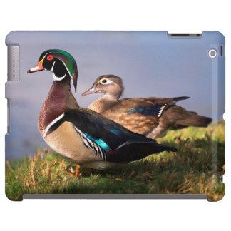 Orilla del lago, pato de madera funda para iPad