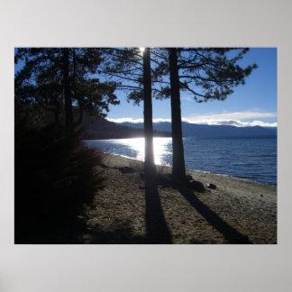 orilla del lago Tahoe Poster