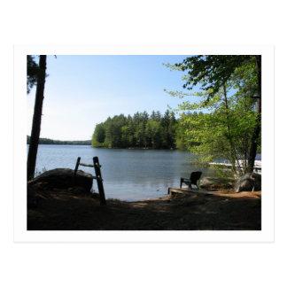 orilla del lago tarjeta postal