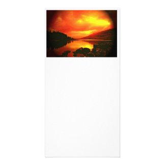 Orilla del lago tarjetas con fotos personalizadas