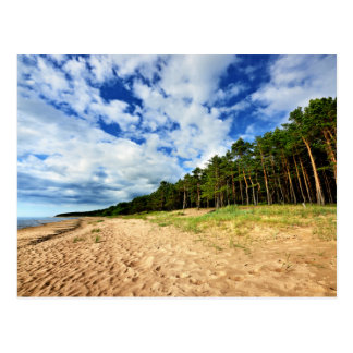 Orilla del mar Báltico de Letonia Tarjeta Postal