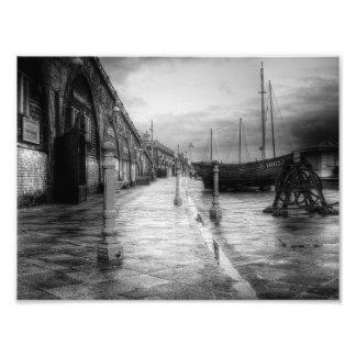 Orilla del mar del vintage fotografías