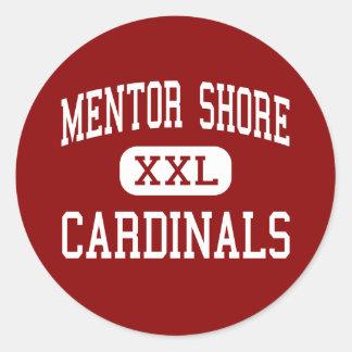 Orilla del mentor - cardenales - joven - mentor pegatina redonda