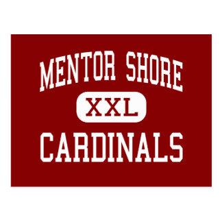 Orilla del mentor - cardenales - joven - mentor postal