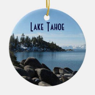 Orilla del norte el lago Tahoe, pueblo de la Adorno Redondo De Cerámica