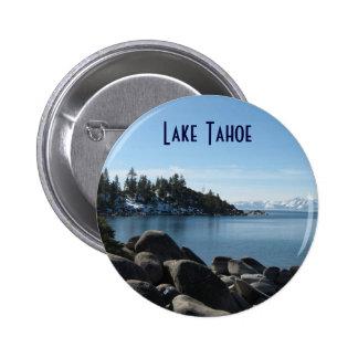 Orilla del norte el lago Tahoe, pueblo de la Pin Redondo De 2 Pulgadas