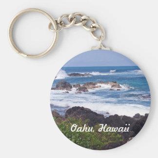 Orilla del norte en la isla de Oahu en Hawaii Llavero Personalizado