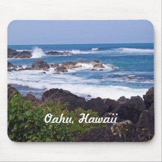 Orilla del norte en la isla de Oahu en Hawaii Mouse Pads