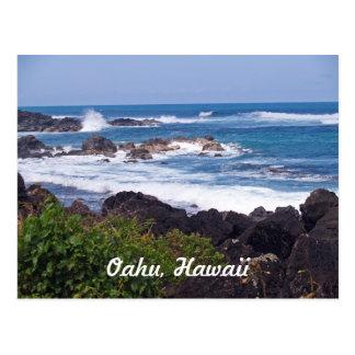 Orilla del norte en la isla de Oahu en Hawaii Postales