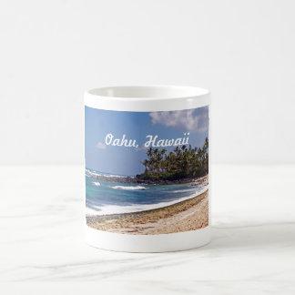 Orilla del norte en la isla de Oahu en Hawaii Tazas De Café