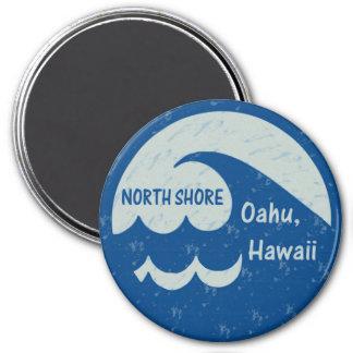 Orilla del norte, Oahu, Hawaii Imán Redondo 7 Cm