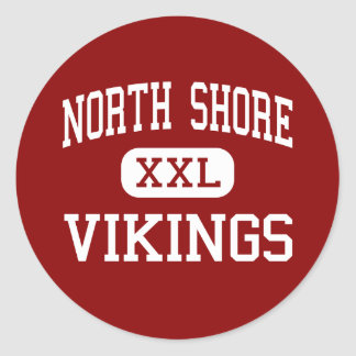 Orilla del norte - Vikingos - alta - cañada Nueva Etiqueta Redonda