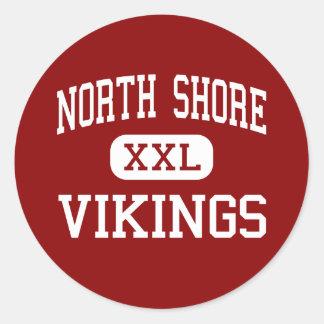 Orilla del norte - Vikingos - alta - cañada Nueva Pegatina Redonda