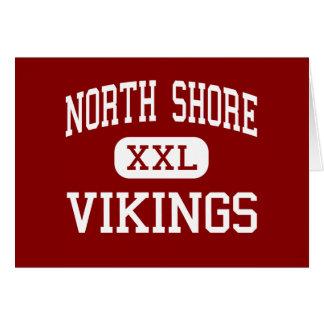 Orilla del norte - Vikingos - centro - cabeza de l Tarjeta De Felicitación