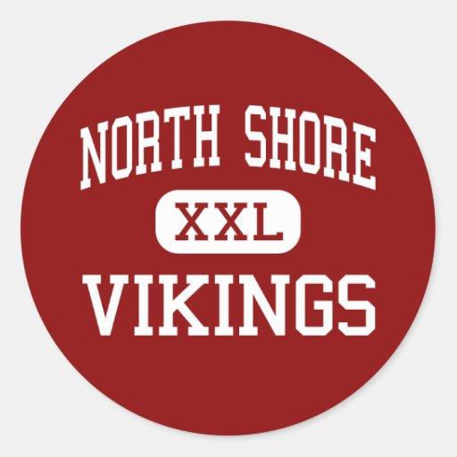 Orilla del norte - Vikingos - centro - cabeza de Etiquetas Redondas