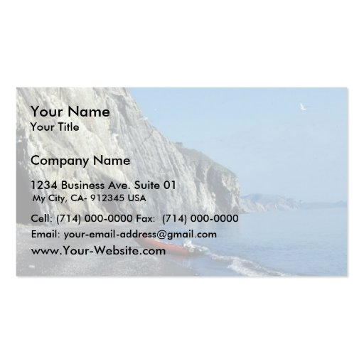 Orilla del oeste del cabo Lisburne Tarjetas De Visita