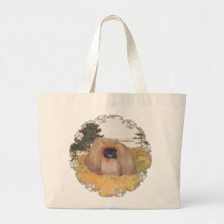 Orilla del otoño bolsa tela grande