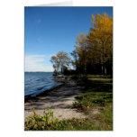 Orilla del otoño de Blank_Lake Simcoe Felicitación