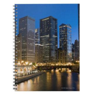 Orilla del río de Chicago Libro De Apuntes