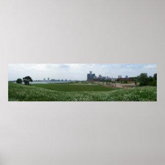 Orilla del río de Detroit Impresiones