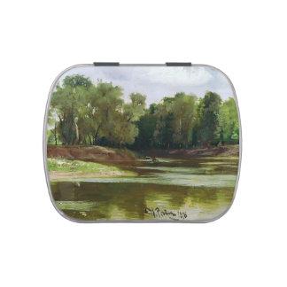 Orilla del río de Ilya Repin- Frascos De Dulces