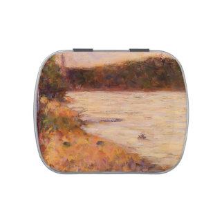 Orilla del río de Jorte Seurat- (el Sena en Asnier Jarrones De Dulces