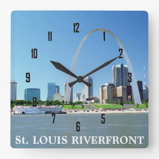 ORILLA DEL RÍO de St. Louis Reloj Cuadrado