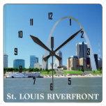 ORILLA DEL RÍO de St. Louis Relojes De Pared