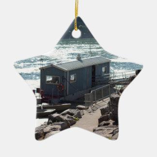 Orilla del río Niágara del canadiense Adorno Navideño De Cerámica En Forma De Estrella
