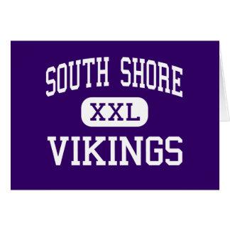 Orilla del sur - Vikingos - alta - Brooklyn Nueva  Tarjeta De Felicitación