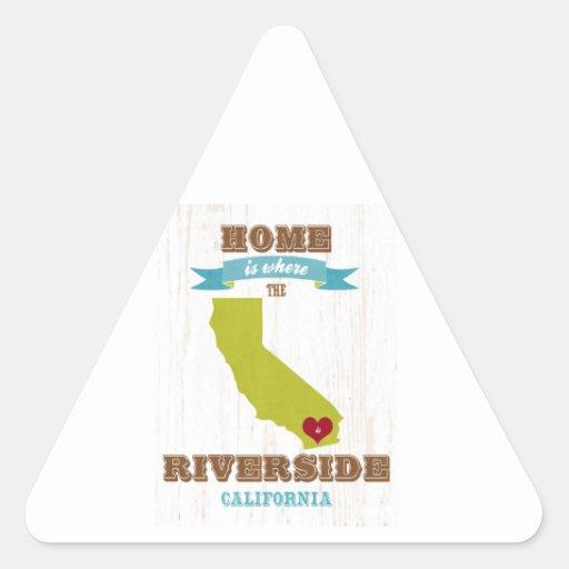 Orilla, mapa de California - casero está donde la Pegatina Triangular