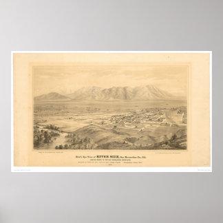 Orilla, mapa panorámico 1877 (1404C) del CA Póster