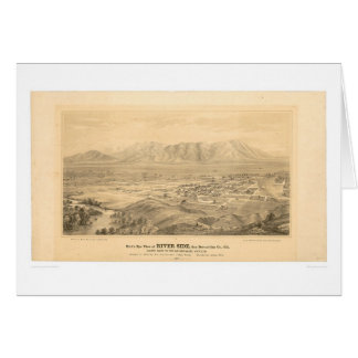 Orilla, mapa panorámico 1877 (1404C) del CA Tarjeta De Felicitación