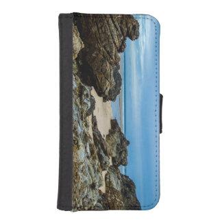 Orilla rocosa - caja de la cartera del iPhone Fundas Billetera Para Teléfono