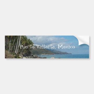 Orilla rocosa con las palmeras; Puerto Vallarta, M Pegatina Para Auto