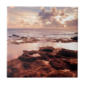 Orilla serena del mar teja cerámica