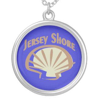 Orilla Shell del jersey Collar Plateado