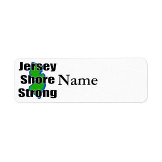 Orilla Strong.png del jersey Etiqueta De Remitente