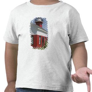 Orilla vuelta a poner faro en Douglas cerca de 2 Camisetas