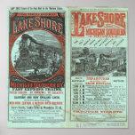 Orilla y Michigan del lago tan ferroviarios Impresiones