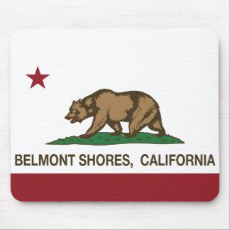 Orillas de Belmont de la bandera del oso de la rep Alfombrillas De Ratón