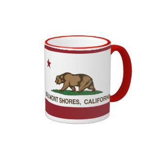 Orillas de Belmont de la bandera del oso de la rep Tazas De Café