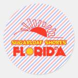 Orillas de Sugarloaf, la Florida Etiquetas Redondas