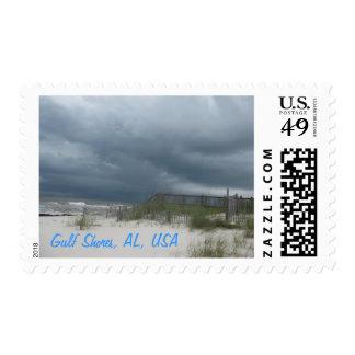 Orillas del golfo, sello de la playa de Alabama