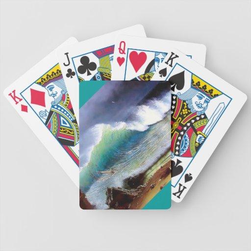 Orillas del mar de la turquesa barajas de cartas