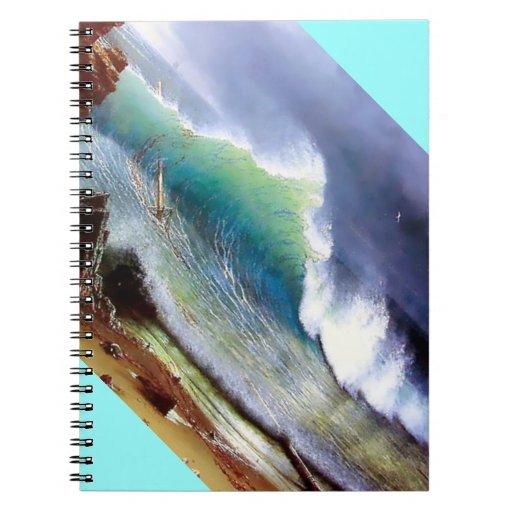 Orillas del mar de la turquesa libro de apuntes