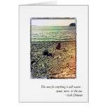 Orillas rocosas de la tarjeta de nota de Puget Sou