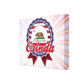 Orinda, CA Lienzo Envuelto Para Galerías