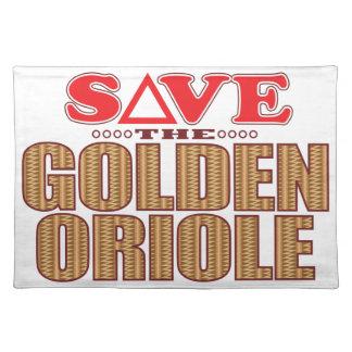 Oriole de oro ahorra manteles